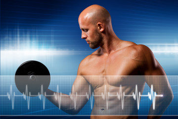 Sportler mit Belastungs-EKG