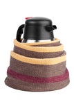 Kettle-thermos, wrapped in a woolen scarf