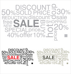 SALE. Word collage on white