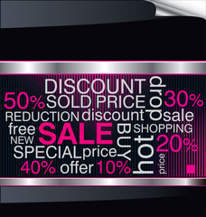 SALE. Word collage