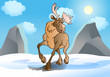 the great reindeer in snow winter