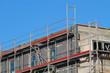 Polystyroldämmung auf Neubau