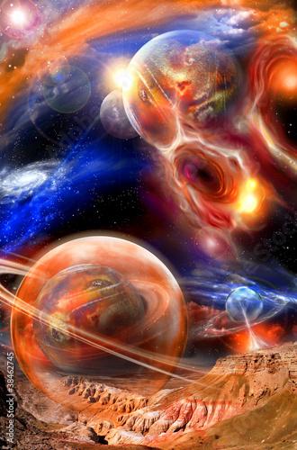 Fototapety, obrazy : space landscape