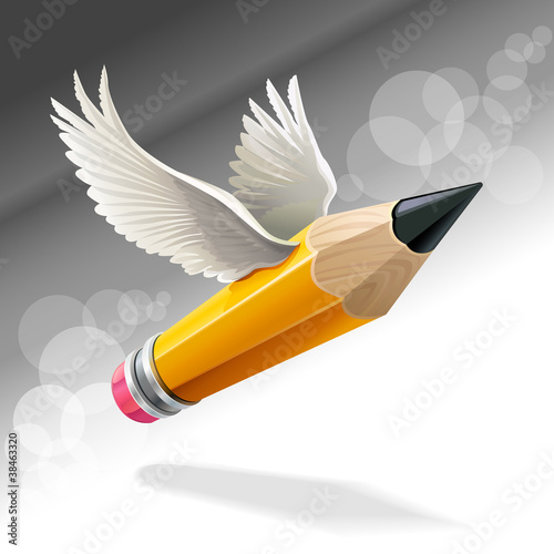 Angel Winged Pencil