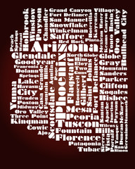abstract map of Arizona state, USA
