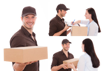 frau paket post postmann 2