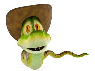 snake cowboy groveling
