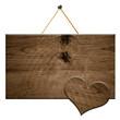 altes Holz Schild mit Herz