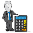 businessman & calculator
