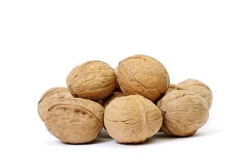 Heap of walnut.