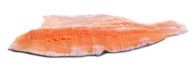 Slice of red fish.