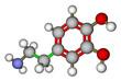 Dopamine molecular structure