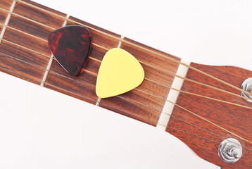 Yellow and Tortoise Shell Guitar Pick