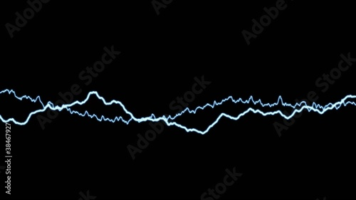Looped animation of electric discharge