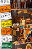 Traditional merchandise for sale in Old Havana poster