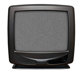 CRT TV isolated on white background