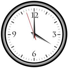 Uhr - Uhrzeit 4 am / pm