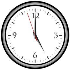 Uhr - Uhrzeit 5 am / pm