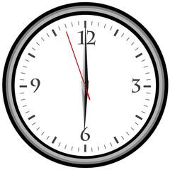 Uhr - Uhrzeit 6 am / pm
