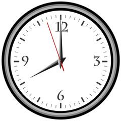 Uhr - Uhrzeit 8 am / pm