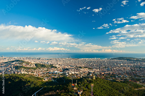 View of barcelona from Tibidano, Barcelona, Spain.