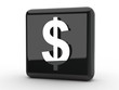 Button Dollarzeichen schwarz