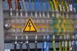 Leinwanddruck Bild - Schaltschrank - Spannung - Elektrotechnik