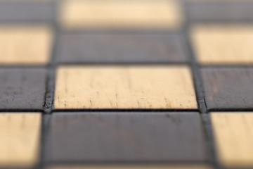Macro Empty Chessboard.