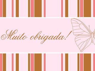 Cartão de agradecimento feminino