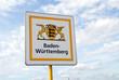 Leinwandbild Motiv Baden-Württemberg, Schild, Landesgrenze, Deutschland, Bundesland