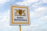 Baden-Württemberg, Schild, Landesgrenze, Deutschland, Bundesland