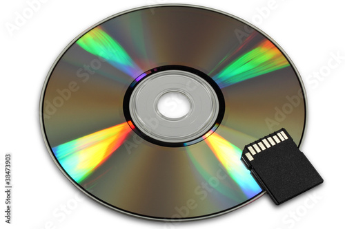 CD or DVD and flash card