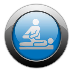 "Metallic Orb Button ""Physical Therapy"""