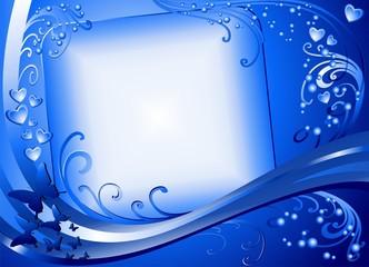 Amore Messaggio Sfondo-Love Blue Background Card-Vector