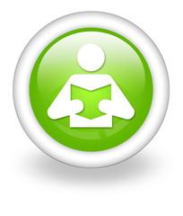 """Light Green Icon """"Library / Reader Symbol"""""""