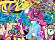Graffiti Urban Art Vector Background