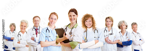 Team mit Ärzten und Krankenschwestern