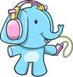 Music Elephant Vector Illustration