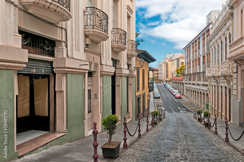 Street in La Orotava, Canary islands, Spain