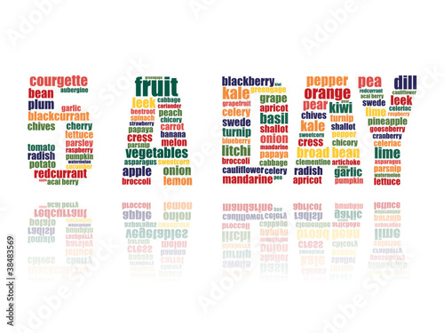 """5 A DAY"" Tag Cloud (one of your vegetables fruit)"