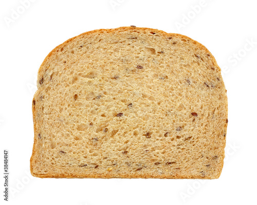 Flaxseed Bread Slice Overhead View