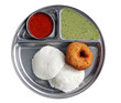 South indian breakfast - idly vada sambar and chutney