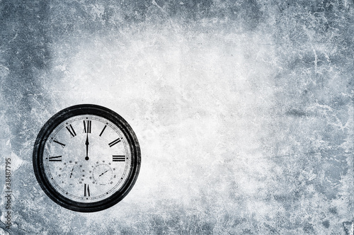 grunge clock backdrop