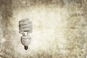 grunge light bulb