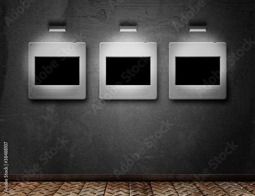 wand mit diarahmen stockfotos und lizenzfreie bilder auf bild 38488107. Black Bedroom Furniture Sets. Home Design Ideas