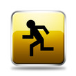 Yellow Running Glossy Icon