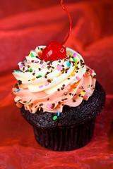 Delicious, beautiful cupcake for dessert