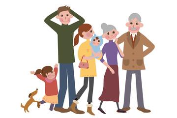 3世帯家族の休日