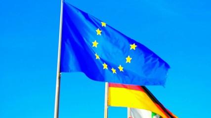 Europa- und Deutschlandflagge