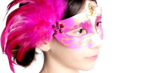 Maskiertes Mädchen